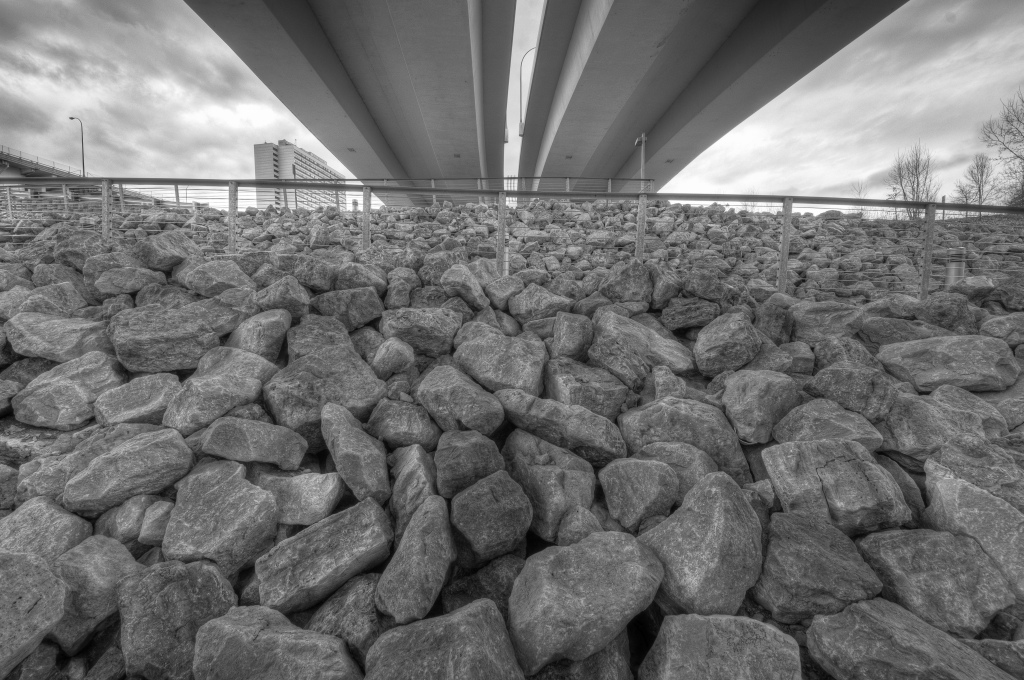 Boulders Under the Bridge